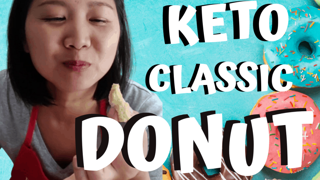 Woman enjoy a keto donut